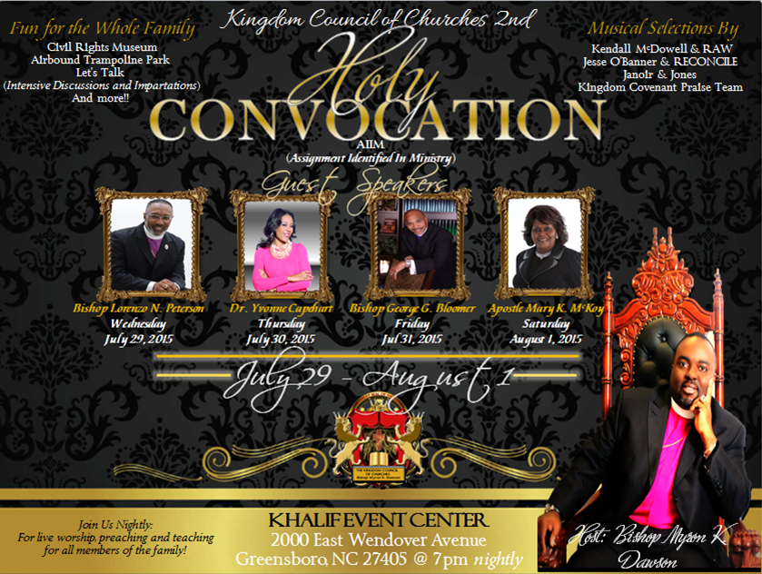 2nd Holy Convocation Flyer 2015
